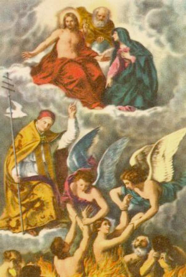 Resultado de imagen para purgatorio catolico